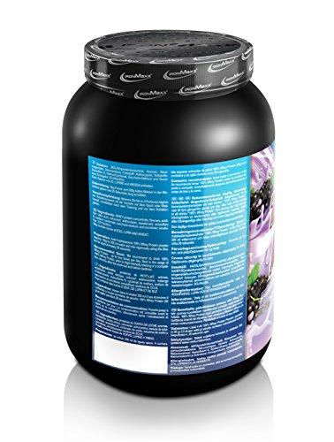 IronMaxx 100% Whey Protein / Whey Proteinpulver für Eiweißshake / Wasserlösliches Eiweißpulver mit Cassis-Joghurt Geschmack / 1 x 900 g Dose