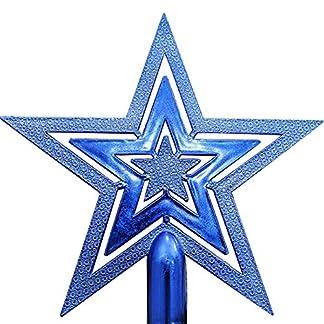 BESTOYARD-Christbaumspitze-Stern-Weihnachtsbaum-Dekoration-Urlaub-Party-Dekoration-Ornament-15cm-Blau