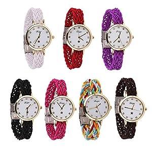 Domybest-Elegante-Damen-weben-Armband-Armbanduhren-fr-Jugendliche-Mdchen-Quarzuhr