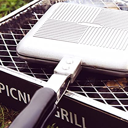 ICO-ICO021-Outdoor-Camping-Sandwich-Toaster-Kein-Strom-Bentigt-Aluminium-Silber-36-x-16-x-4-cm