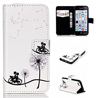 CaseHome-Compatible-for-iPhone-5C-Bookstyle-PU-Leder-Folio-Hlle