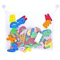 Paizizi-Bade-Buchstaben-Zahlen-Schaum-36-teiliges-Alphabet-Baby-Badespielzeug-mit-Badezimmer-Spielzeug-Netz-Organisator-45x35cm