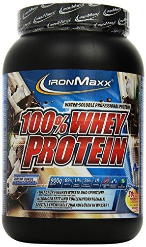 IronMaxx 100% Whey Protein / Whey Eiweißpulver auf Wasserbasis / Proteinpulver mit Schoko-Kokos Geschmack / 1 x 900 g Dose
