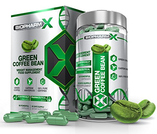 Green Coffee Bean Extract Diet Pills : Maximum Strength Fat Burner / Weight Loss / Slimming Supplement (60 Capsules | 1 Month Supply)