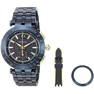 Versace-Herren-Analog-Quarz-Uhr-mit-Edelstahl-Armband-VAH050016