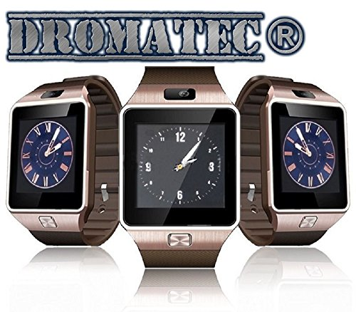 DROMATEC-SW09-GOLD-Smartwatch-Uhr-GSM-2G-Bluetooth-Kamera-Podometer-Schlafmodus-fr-Android-und-Iphone-IOS