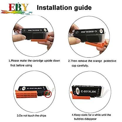 EBY-30-Druckerpatronen-kompatibel-fr-Canon-PGI-550-XL-550XL-BK-CLI-551-551XL-fr-Pixma-IP7250-IP8750-IX6850-MG6450-MG7550-MX920-MX925