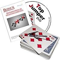 Kartentricks-fr-Erwachsene-TOP-JUMPER-deutschsprachige-DVD-3-weitere-verlffende-Kartentricks-Zauberkarten-Set-mit-Ambitious-Card-Routine-Sandwich-Effekt-Card-in-Wallet-l-und-Wasser
