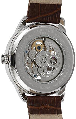 Akribos-XXIV-Herren-Armbanduhr-AK807BR-Analog-Automatik