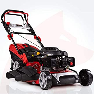Rotfuchs-Benzin-Rasenmher-Selbstantrieb-5in1-Funktion-GT-Markengetriebe-196ccm-max-44kW6PS-62L-Grasfangkorb-53cm-Schnittbreite-Reinigungsfunktion