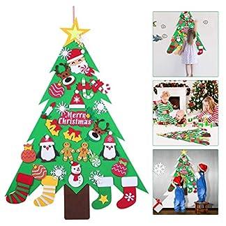 Amosfun-Weihnachtsfilz-Baum-Weihnachten-hngenden-Weihnachtsbaum-mit-kleinen-Ornamenten-Festival-DIY-Wanddekoration-fr-Kinder-Home-Innendekoration