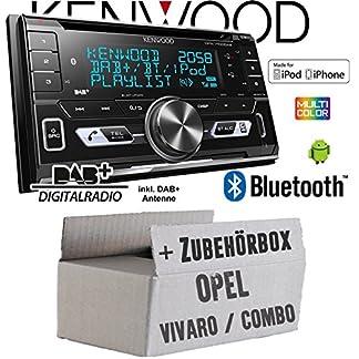 Autoradio-Radio-Kenwood-DPX-7100DAB-2DIN-Bluetooth-DAB-Digitalradio-USB-CD-MP3-Einbauzubehr-Einbauset-fr-Opel-Vivaro-A-Combo-C-JUST-SOUND-best-choice-for-caraudio