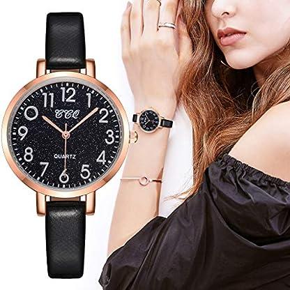 Damen-Uhren-KiyomiQvQ-Minimalistischen-Armbanduhr-Einfache-Schwarz-Verschleifeste-Lederband-Sternenhimmels-Schne-Zifferblatt-Markenuhren-Frauen-Legierung-Gehuse-Quarzuhr-Watch