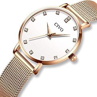 CIVO-Damen-Uhren-Silm-Minimalistisch-Wasserdicht-Armbanduhren-Frauen-Mdchen-Mode-Kleid-Elegant-Luxus-Beilufig-Quarzwerk-Damenuhr-mit-Edelstahl-Mesh-Band