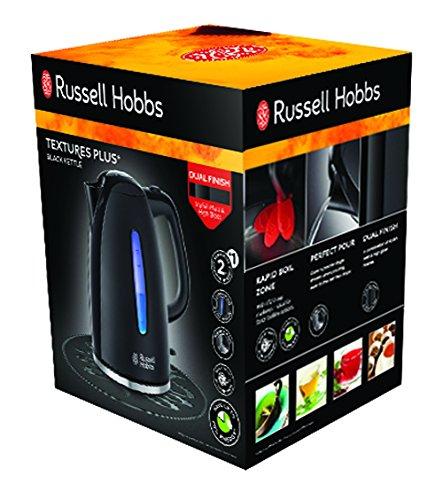 Russell-Hobbs-Wasserkocher-Textures-17l-2400W-LED-Beleuchtung-Schnellkochfunktion-optimierte-Ausgusstlle-herausnehmbarer-Kalkfilter-Teekocher-schwarz-22591-70