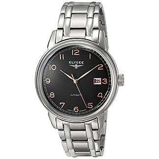 Elysee-Unisex-Erwachsene-Analog-Automatik-Uhr-mit-Edelstahl-Armband-80546S