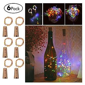 Weinflaschen-Lichterketten-Sunniu-6-Packs-Mikro-Nachahmung-Kork-Kupfer-Sternenklare-Lichterketten