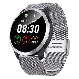 QKa-Big-Screen-Smart-Watch-mit-Blutdruck-Herzfrequenzmonitor-Einstellbare-Helligkeit-Edelstahl-Armband-Smartwatch-IP68