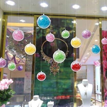 LOVIVER-30x-Acrylkugeln-Plastikkugeln-Kunststoffkugeln-Bastelkugeln-Hochzeitskugeln-mit-Blumen-Feder-Bltter-usw-zum-Befllen