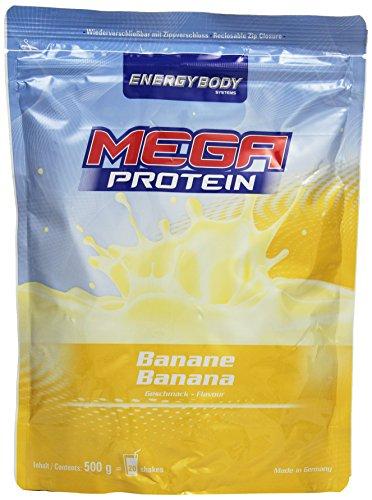 Energybody Mega Protein, Banane, 1er Pack (1 x 500 g Beutel)