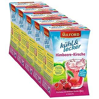 Milford-khl-lecker-Himbeere-Kirsche-20-Teebeutel-5er-Pack
