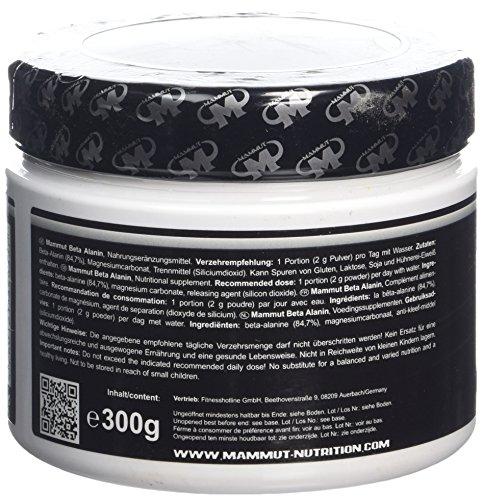 Mammut Beta Alanin Powder, 2,3g Alanin pro Portion 300 g Dose