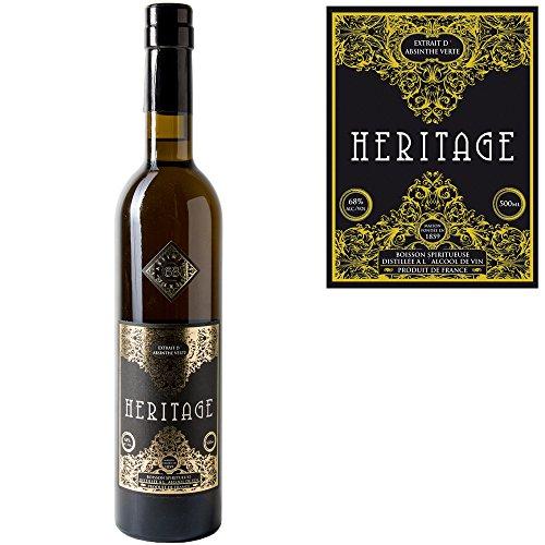 Premium-Absinth-Heritage-Verte-aus-Frankreich-68-Vol05-Liter-Mit-Weinalkohol-destilliert