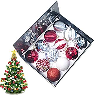 Yisily-12-Pcs-Weihnachtskugel-Dekoration-Weihnachtsbaum-hngende-Verzierungen-splitterfrei-hngende-Kugel-fr-Weihnachtsdekoration-8-cm