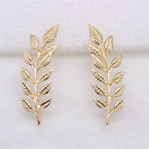 Sharplace Blätter Design Brosche Anstecknadel Golden farbig Brust Pin für Hochzeit