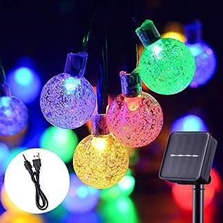 Solare-Gartenbeleuchtung-wasserdicht-solarbetrieben-und-wiederaufladbar-Festival-Dekorative-String-Lichter-mit-30-LED-20Ft-Kristallkugeln-fr-drinnen-und-drauen