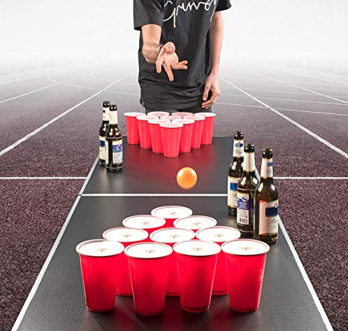 infactory-Bierpong-Becher-Trinkspiel-Set-Bier-Pong-mit-24-Bechern-je-450-ml-und-2-Bllen-Party-Trinkspiele