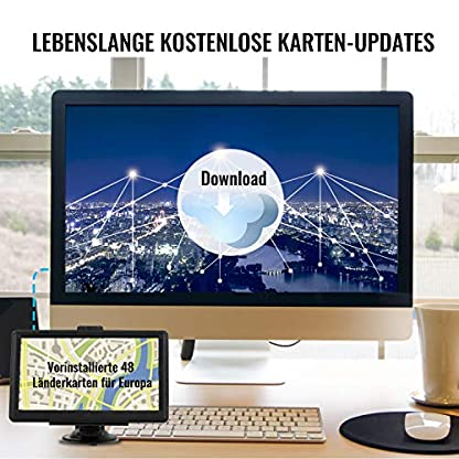 Navigationsgert-MixMart-GPS-Navi-Navigation-2019-7-Zoll-Touchscreen-Lebenslang-Kostenloses-Kartenupdate-128M32GB-48-Karten-fr-Europa-fr-Auto-PKW-LKW-KFZ-Mehrsprachig