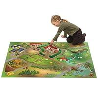 Kinderteppich-rutschfest-Spiel-Circuit-kann-Bauernhof-aus-Polyester-von-House-of-Kids-Teppich-fr-Kinder