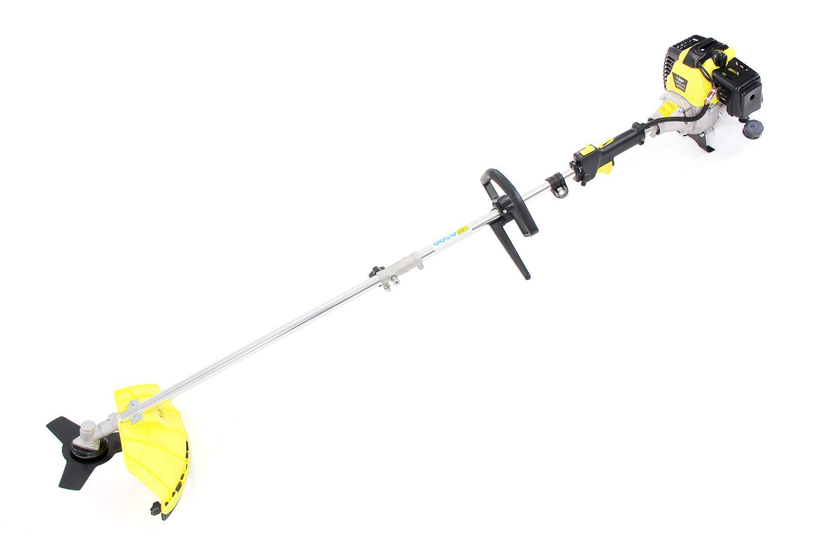 Craftfull-5in1-Multifunktionsgert-Rasentrimmer-Freischneider-Kettensge-Heckenschneider-Verlngerung-Tragegurt-Benzin-Motor
