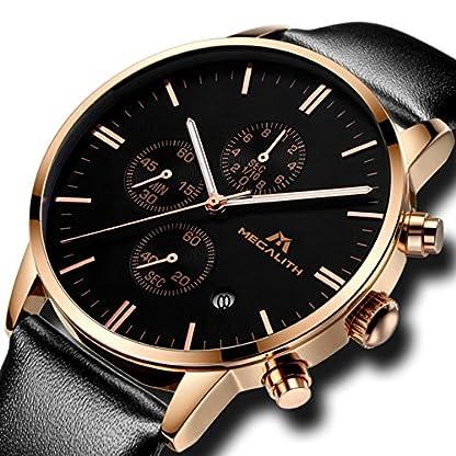 Herren-Uhren-Rosegold-Mnner-Chronograph-Sport-Wasserdicht-Luxus-Mode-Datum-Kalender-Designer-Armbanduhr-Geschfts-Beilufig-Elegant-Kleid-Stoppuhr-Analog-Quarz-Uhr-mit-Schwarz-Lederband