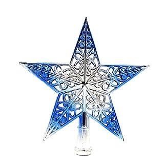 Weihnachtsbaumspitze-Stern-BJJH-Weihnachtsbaum-Stern-Christbaumspitze-Stern-Tannenbaum-Spitze-Mehrfarben-fr-Feiertags-Dekorationen