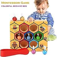 Holz-Bienen-Spielzeug-Klippkasten-Montessori-Geburtstag-Pdagogisches-Lernspielzeug-fr-Kinder-Baby-Motorik-Entwicklung-Ausbildung