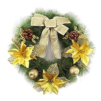 VIGE-40-cm-Durchmesser-Weihnachtskranz-Bogen-Kiefer-Nadel-Weihnachtsdekoration-Fr-Home-Party-Outdoor-Baumschmuck-Liefert-Weihnachten-deko