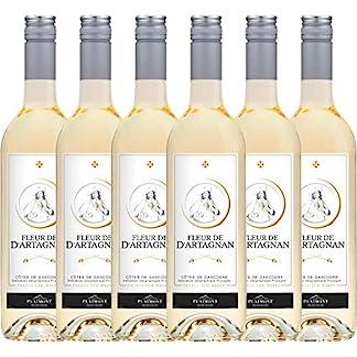 6er-Paket-Fleur-de-dArtagnan-Blanc-2018-Plaimont-mit-VINELLOweinausgieer-trockener-Weiwein-franzsischer-Sommerwein-aus-Sud-Ouest-6-x-075-Liter