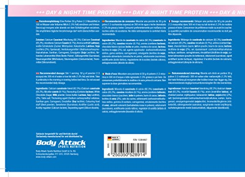 Body Attack 100% Casein Protein, Strawberry White-Chocolate, 1800 g