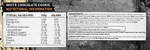 Grenade Carb Killa Hochproteinriegel, weiße Schokolade-Cookie, 12 x 60g