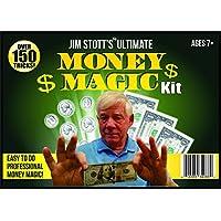 Jim-Stott-Magic-Ultimative-Geld-Magie-Kit-Zaubertricks-Set-fr-Erwachsene-Mnze-durch-Glas-Fliegen-Mnzen-Magic-Pen-Penetration-The-Money-Maker-Faltpapier-Geheimnis