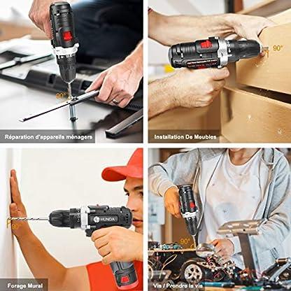 Akku-Bohrschrauber-Akkuschrauberset-128V-2-Batterien1300-mAh-max-Drehmoment-28-Nm-Schrauben–10-mm-31-poliges-Zubehr-Set-25-1-Drehmomentstufen-mit-LED-Arbeitslicht-Profi-Koffer