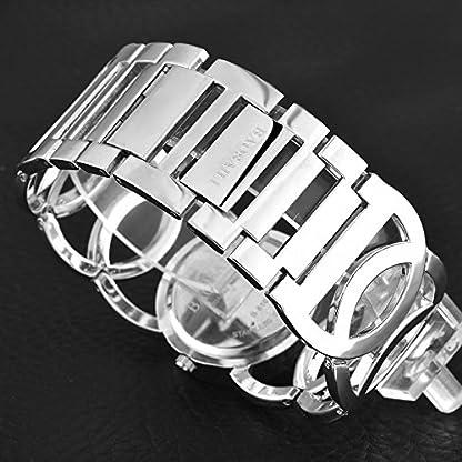 Souarts-Damen-Silber-Farbe-Edelstahl-Armbanduhr-Strass-Quartzuhr-Analog-mit-Batterie