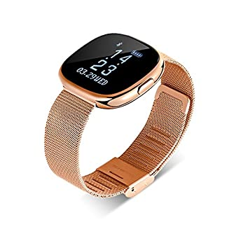 Touchscreen-smartwatch-Damen-Herren-Ultradnnes-Wasserdichtes-Sportarmband-aus-Stahl-mit-GPS-Bluetooth-Fitness-und-Herzfrequenzsensor-kompatibel-mit-Android-und-iOS-Telefonen