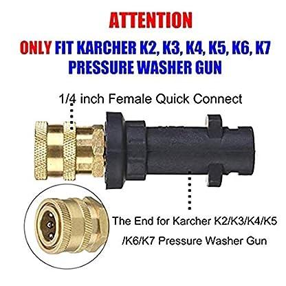 DULALA-Schnelladapter-Hochdruckreiniger-Schaumtopf-Reinigung-14-Fr-Karcher-K-K2-K3-K4-K5-K6-K7