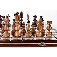 Prsident-groe-45cm178-In-Handarbeit-aus-Holz-Schachspiel-Kirschbaum