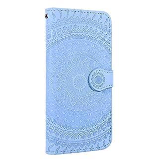 Homikon-PU-Leder-Hlle-Schn-Mandala-Muster-Schutzhlle-Brieftasche-Ledertasche-Handyhlle-mit-Kartensteckplatz-Stnder-Klapphlle-Etui-Flip-Case-Kompatibel-mit-Huawei-P9-Lite