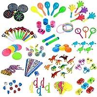 TOYMYTOY-Kinder-Party-Spielzeug-Geburtstag-Sortimente-120-STCKE-Kleine-Geschenke-fr-Kids-Party-Favors-Kinder-Party-Tombola-Mitgebsel-Kleinspielzeug-Pinata-Fllstoffe-Karneval-Preise-Schule-Belohnung