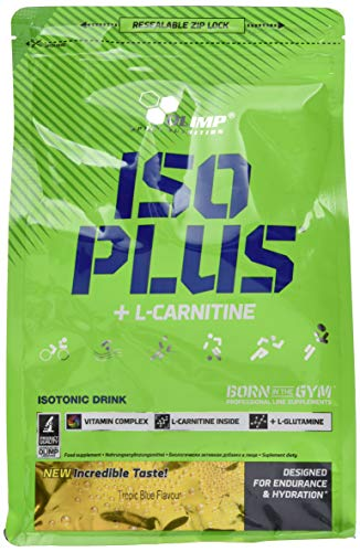 Olimp Iso Plus + L-Carnitine | Isotonic Sports Drink | Kohlenhydrat-Präparate | Tropic Blue Geschmack | 1505 g